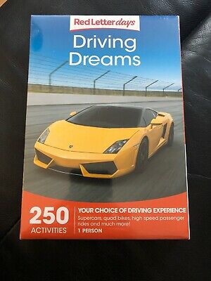 Red Letter Days Driving Dreams Choice Of Driving Experience 1 Person BN