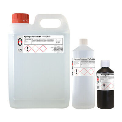 Hydrogen Peroxide 3% Food Grade - Choose Pack Size 500ml, 1L or 5L **Free P&P**