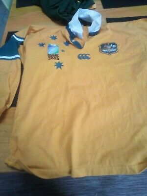 Vintage Rugby Shirt Canterbury Australia World Cup 2003 Jersey Size: Medium