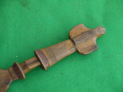 ATTRACTIVE VINTAGE CARVED HARDWOOD LADY LETTER OPENER  FROM Kepkypa in Corfu