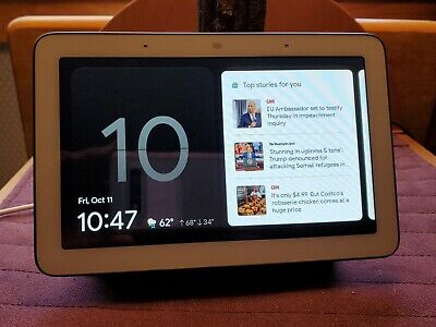 Google Nest Hub with Built-In Google Assistant, Charcoal - Smart Home Control