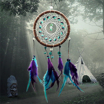 Dream Catcher Feather Core Bead Dreamcatcher Home Wall Car Decoration Hanging VV