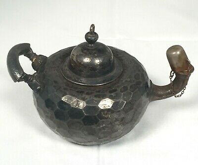 Meriden Britannia Silver Plate Honeycomb Arts & Crafts Genie Lamp Cigar Lighter