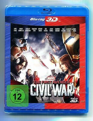 The First Avenger: Civil War 3D - Marvel, 3D Blu-ray