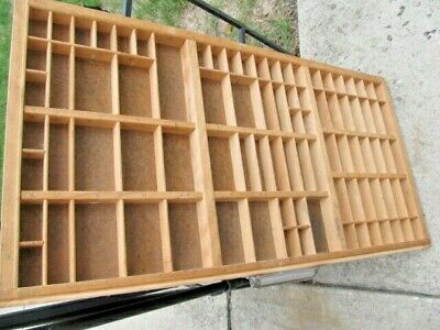 Vintage Full Size Printers Wooden Type Drawer  Letterpress Case  Wood Print Tray