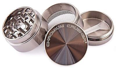 Chromium Crusher 1.6 Inch 4 Piece Tobacco Spice Herb Herb Grinder (Various Color