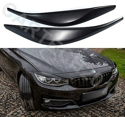 Fits BMW F34 GT Pre Lift Headlights EyebrowS Eyelids ABS PLASTIC