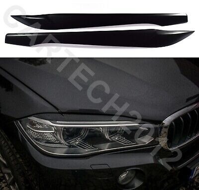 Fits BMW X6 F16  Headlights EyebrowS Eyelids ABS PLASTIC