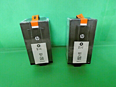LOT OF 2 HP 902XL BLACK INK CARTRIDGE FACTORY SEALED/GENUINE/Dated 2020