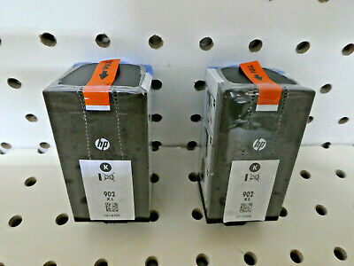 LOT OF 2 HP 902XL BLACK INK CARTRIDGE FACTORY SEALED/Genuine/Dated 2019