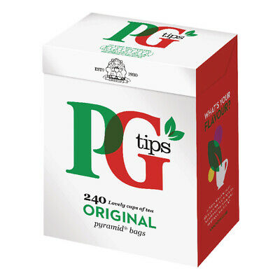 PG Tips ONE CUP PYRAMID TEA BAGS Fresh sealed 240 bag 0.696kg