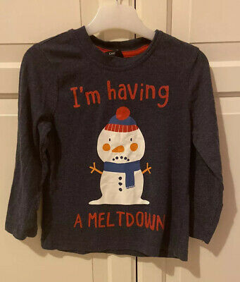 Snowman Christmas top Size 3-4 Years