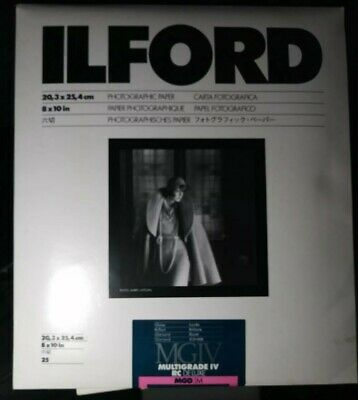 "Ilford Multigrade IV RC Deluxe Glossy Coated VC - 8"" x 10"" - 25 sheets"