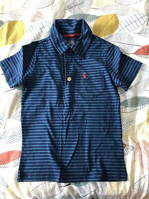 Joules Boys Blue Polo T-Shirt Age 4