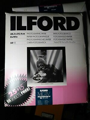 "Ilford Multigrade IV MGIV Pearl 8""x10"" 40 Pack, 30+ left in package"