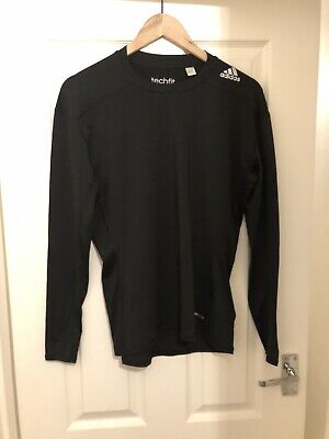 Adidas Techfit Compression Climalite Tight Fit Top Size XL Grey