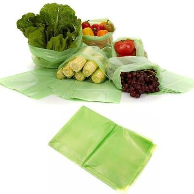 20 Pcs Green Fresh Food Vegetable Storage Bags Green Device Produce Kitchen N4P1