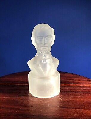 Abraham Lincoln frosted bust Gillinder Brothers Glass Company Souvenir political