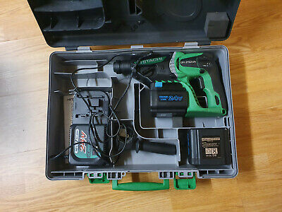 Hitachi DH 24 DVA 24v in case 2 battery, look