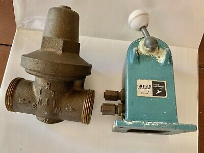 Vintage Mead Pneumatic Valve Works & Brass Steampunk Metal Art Valve