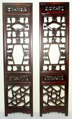 Antique Chinese Screen Panels (2690) (Pair) Cunninghamia wood, Circa 1800-1849