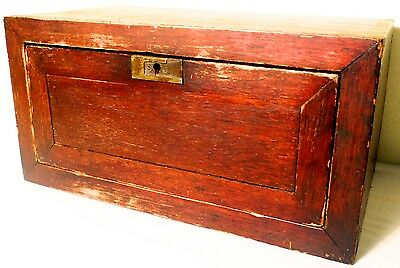 Antique Chinese Idol Chest (2582), Cypress Wood, Circa 1800-1949
