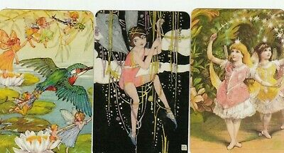 3 Swap Playing Cards Fairy Fairies Children  Blank Backs Modern #7