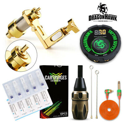 Copper Rotary Machine Tattoo Kit Cartridge Needles Set Power Equipment Supplie