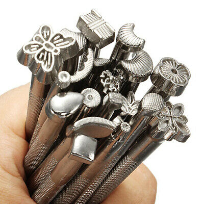 DIY Leather Tools Working Saddle Making Set Carving Craft Stamps Punch 20Pcs Set