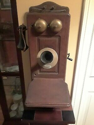 Antique 1892 Western Electric Oak Wall Mounted Telephone