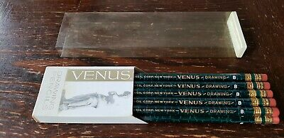 NEW IN BOX 11 Vintage Venus Drawing Pencils B Unused