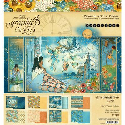 "G45 -Double-Sided - Dreamland -  Paper Pad 8""X8"" 24/Pkg"