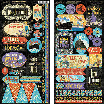 """G45 - Life's A Journey - Cardstock Stickers 12""""X12"""""""