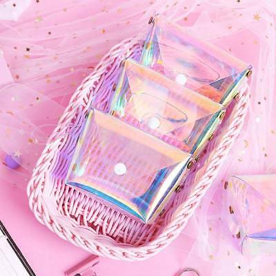 Fashion Jelly Laser Transparent Coin Purse for Women Key Card Storage Wallet-