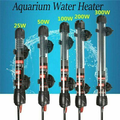 25/50/100/200/300W Aquarium Submersible Heater Fish Tank Auto Water Thermostat
