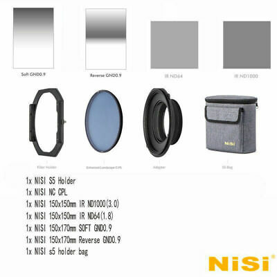 NISI S5 150mm Filter Holder kit For Camera 150mm ND1000+ND64+S GND0.9+RGND0.9