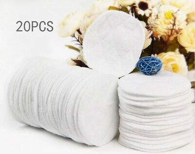 20x Bamboo Cleaning Reusable Breast Pads Nursing Organic Plain Washable Pad #JIU