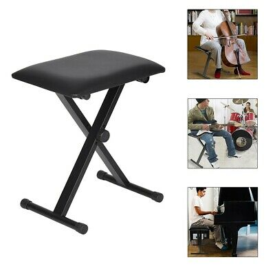 On Stage Padded Keyboard Piano Bench Seat Stool Adjustable Chair Foldable Music