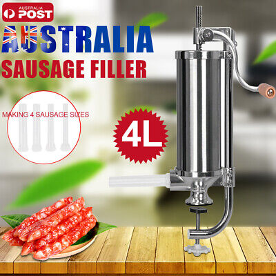 4L Sausage Filler Stuffer Maker Commercial 304 Stainless Steel Meat Machine New