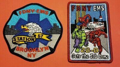 New York City Fire Department EMS Patches Station 57