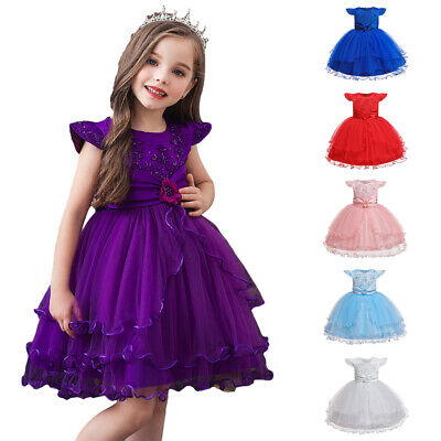 Toddler Baby Kid Princess Gown Flower Girl Dress Children Christmas Dresses Tutu