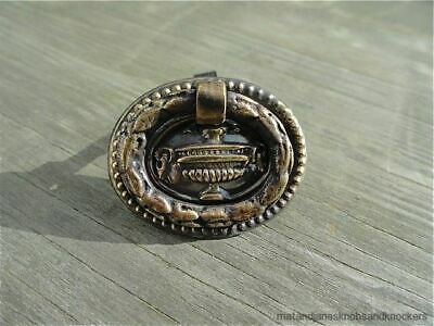 Super Quality Small Brass Antique Style Furniture Drawer Ring Pull Handle W3