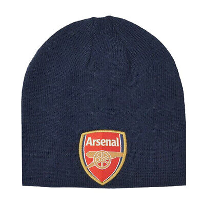 Arsenal FC Official Product Beanie Hat NAVY Club Crest Embriodery New Season