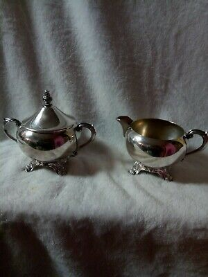 Vintage FB Rogers 1883 Silver Co Cream and Sugar Set