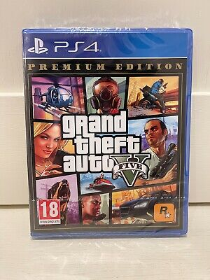 New Grand Theft Auto V 5 Premium Edition (PS4) Sony GTA 5 Rockstar UK PAL Game