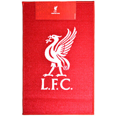 Official Liverpool Football Club Liverbird Crest Print Floor Rug - New