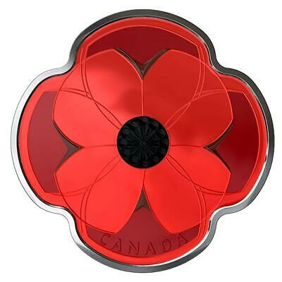 Remembrance Day – 2019 $10 1/2 Oz Poppy Shaped Fine Silver Coin – Rcm Canada