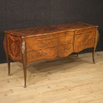 Commode dresser chest of drawers wood sideboard furniture bedroom antique style