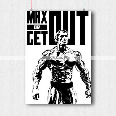 Arnold Schwarzenegger Poster Gym Print Fitness Quote -A3 A4 Size