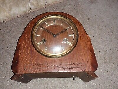 Vintage Smiths Wooden Cased Mantle Clock Not Working sold as spares or repairs